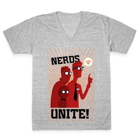 Nerds Unite V-Neck Tee Shirt