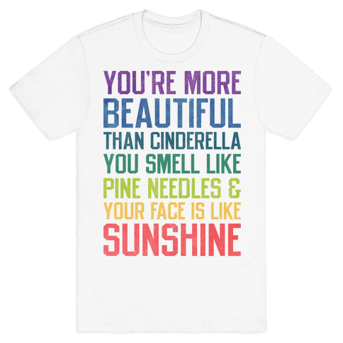 You're More Beautiful Bridesmaids Quote (Tee) Mens T-Shirt