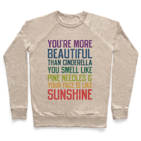 You're More Beautiful Bridesmaids Quote (Tee) Pullover
