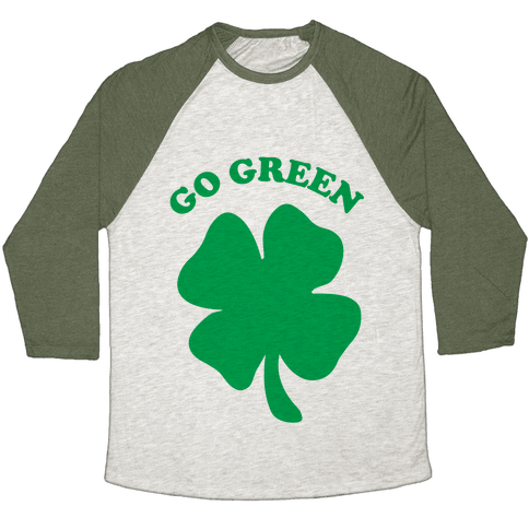 Go Green Baseball Tee