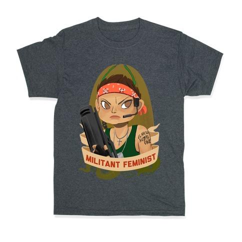 vente chaude en ligne 2a26b ff492 Militant Feminist T-Shirt | LookHUMAN