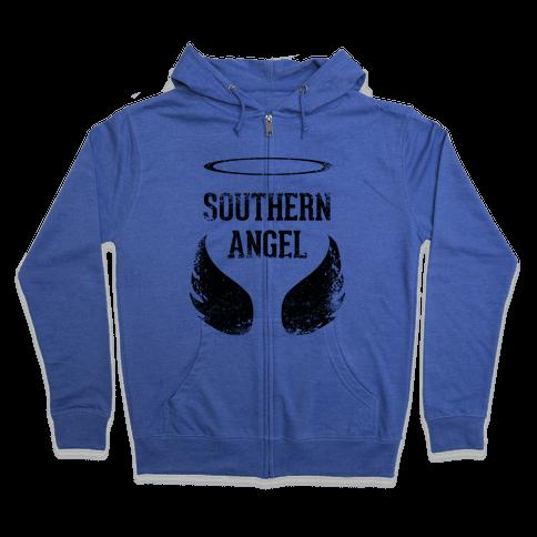 Southern Angel (Vintage) Zip Hoodie