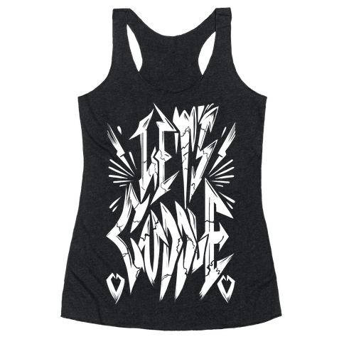 Let's Cuddle (Metal) Racerback Tank Top