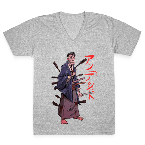 Undead Samurai V-Neck Tee Shirt