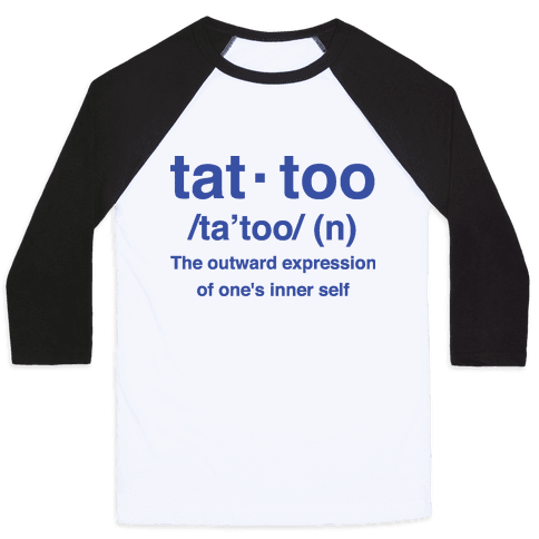 Tattoo Definition  Baseball Tee