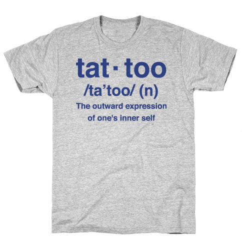 Tattoo Definition  Mens T-Shirt