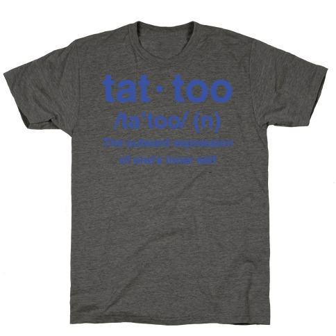 Tattoo Definition Mens/Unisex T-Shirt