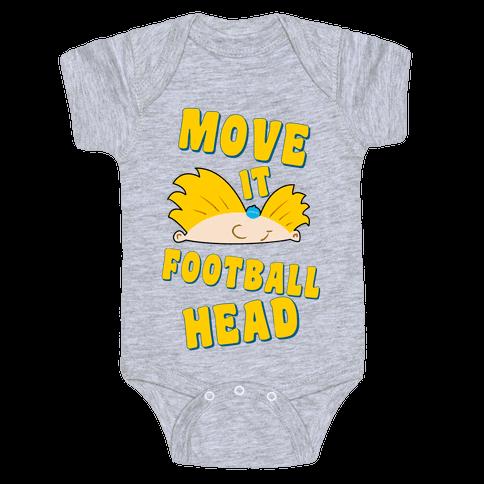 Move It Football Head! Baby Onesy