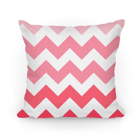 Chevron Pillow (Pink)