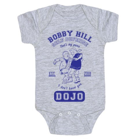 Bobby Hill Self Defense Dojo Baby Onesy