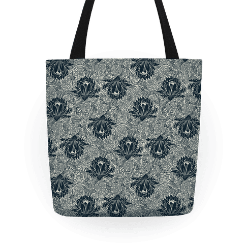 Lotus Flower Pattern Tote