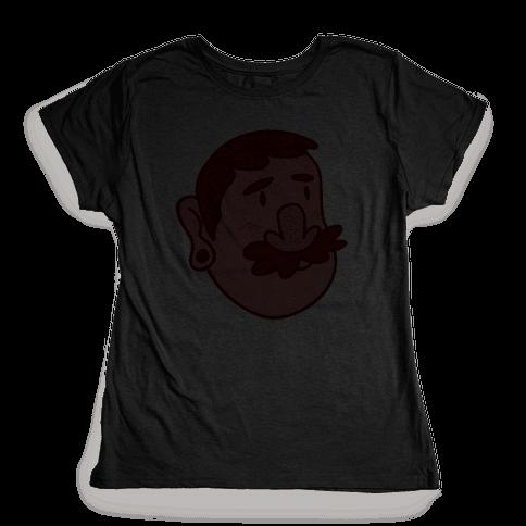Cute Scruffy Dude (Red) Womens T-Shirt