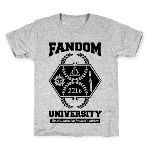 Fandom University Kids T-Shirt