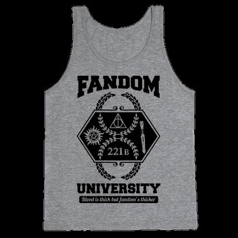 Fandom University Tank Top