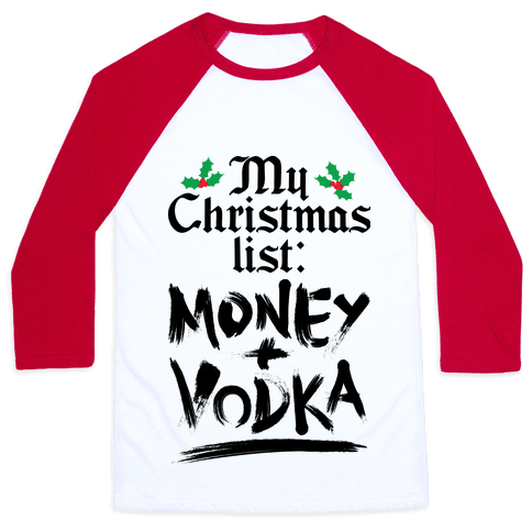 My Christmas List Baseball Tee
