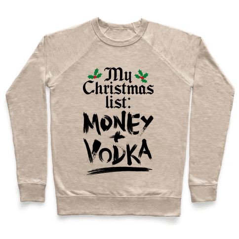 My Christmas List Pullover