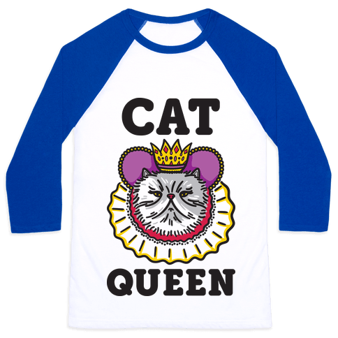 Cat Queen Baseball Tee