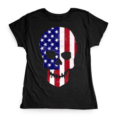 American Skull Womens T-Shirt
