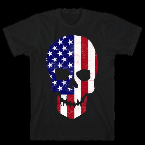 American Skull Mens T-Shirt