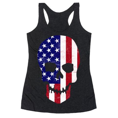 American Skull Racerback Tank Top