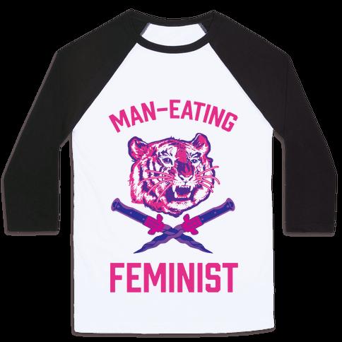 Man-Eating Feminist Baseball Tee