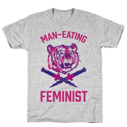 Man-Eating Feminist Mens T-Shirt