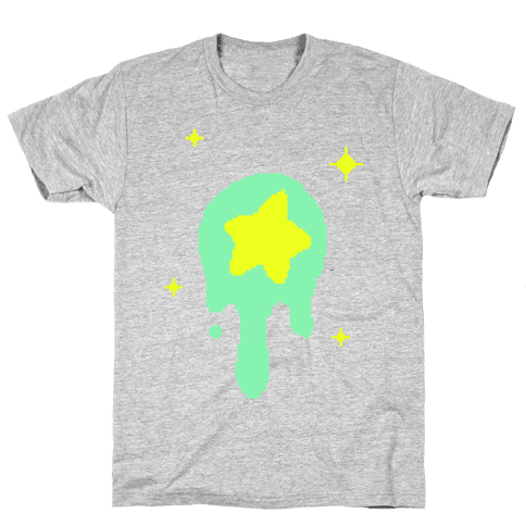 Gooey Pixel Star Mens T-Shirt