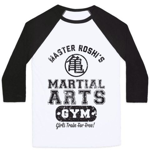 Master Roshi's Martial Arts Gym Baseball Tee