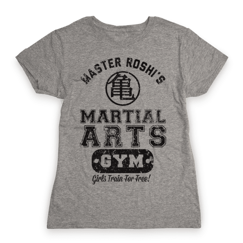 Master Roshi's Martial Arts Gym Womens T-Shirt