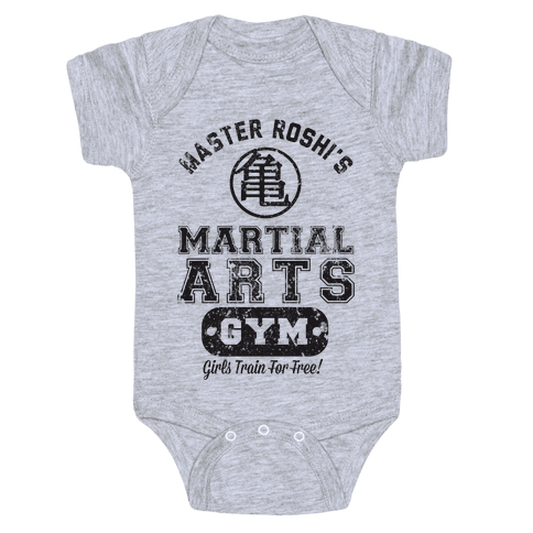Master Roshi's Martial Arts Gym Baby Onesy