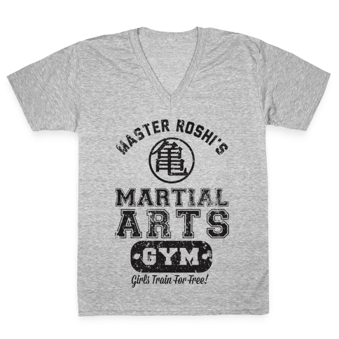 Master Roshi's Martial Arts Gym V-Neck Tee Shirt
