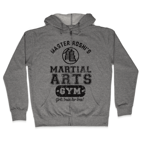 Master Roshi's Martial Arts Gym Zip Hoodie