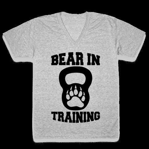 Bear In Training V-Neck Tee Shirt