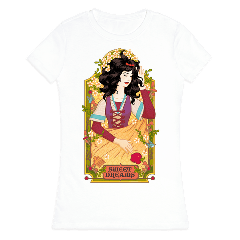 Sweet Dreams Snow White Womens T-Shirt