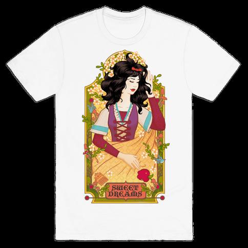 Sweet Dreams Snow White Mens T-Shirt