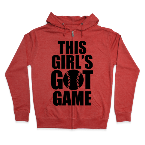 This Girl's Got Game (Softball) Zip Hoodie