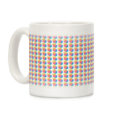Cyan Magenta Yellow Polka Dot Pattern Coffee Mug