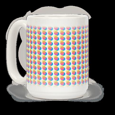 Cyan Magenta Yellow Polka Dot Pattern