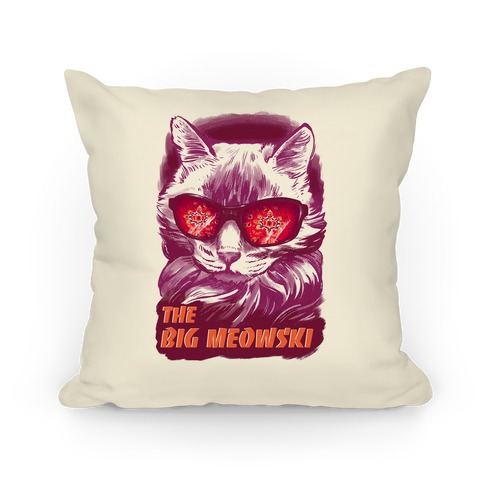 The Big Meowski Pillow
