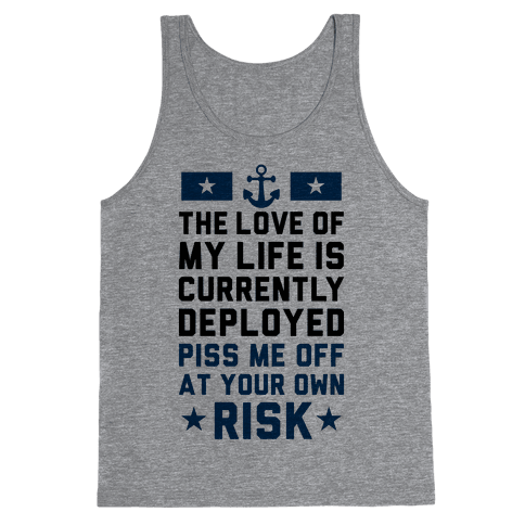 Piss Me Off At Your Own Risk (Navy) Tank Top