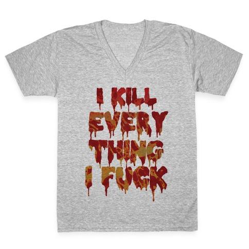 Zombie Sex V-Neck Tee Shirt