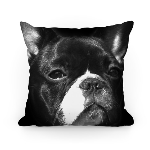 Boston Terrier Face Pillow