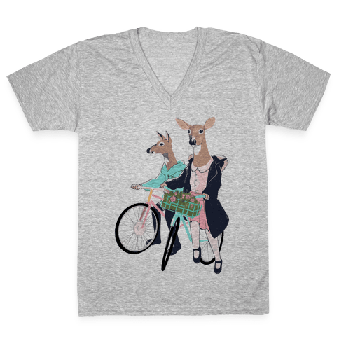 Neighborhood Bike Gang V-Neck Tee Shirt