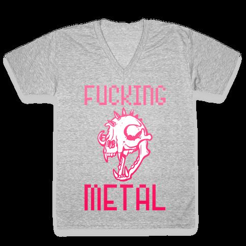 F***ing Metal V-Neck Tee Shirt