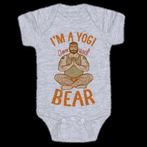 I'm A Yogi Bear Baby Onesy