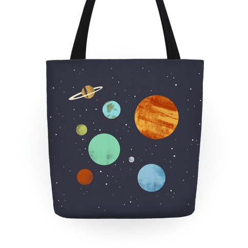Planets Illustration Tote