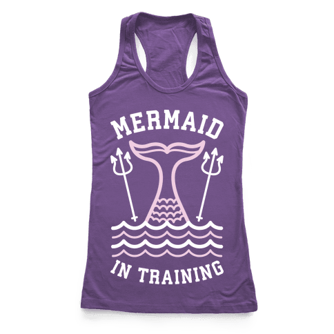 Mermaid In Training Racerback Tank Top