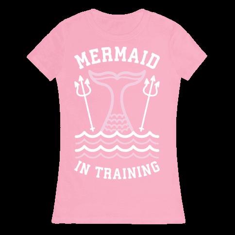 Mermaid In Training Womens T-Shirt
