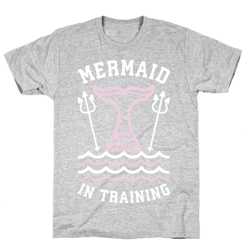 Mermaid In Training Mens T-Shirt