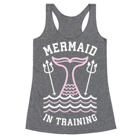 Mermaid In Training Racerback Tank Top